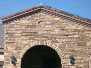 Stone Veneer On House