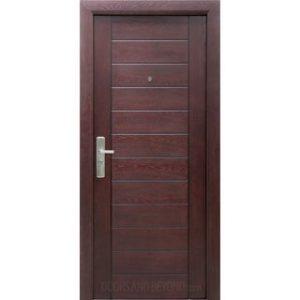 S100 - Exterior Security Door Red Mahogany (Pre-hung Door Unit)