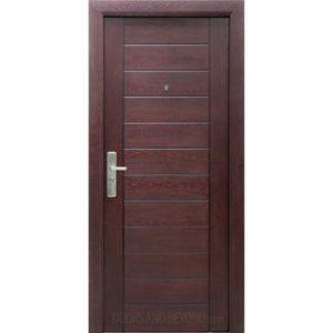 S100   Exterior Security Door Red Mahogany (Pre Hung Door Unit)