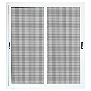 Titan 72 in. x 80 in. White Sliding Patio Security Door with Meshtec Screen