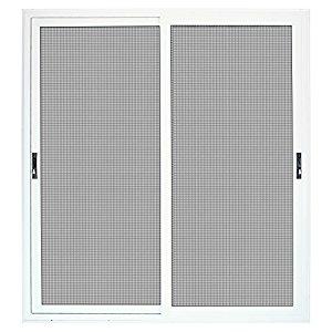 Titan 72 in. x 80 in. White Sliding Patio Security Door with Meshtec Screen